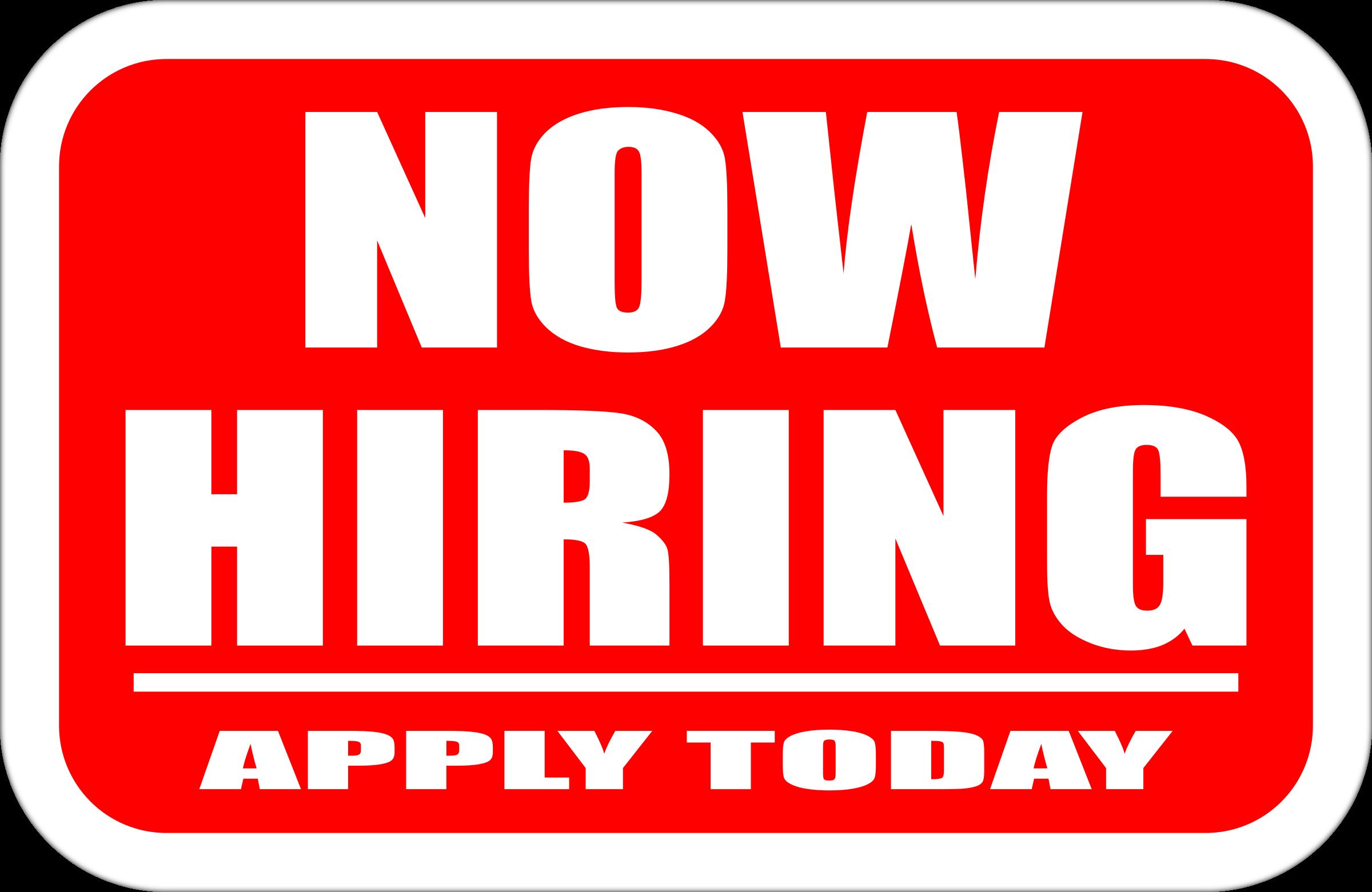 now hiring