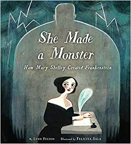book cover: She Made A Monster by Lynn Fulton