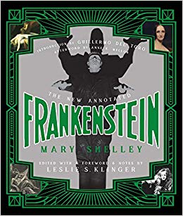 book cover: The New Annotated Frankenstein by Mary Shelley