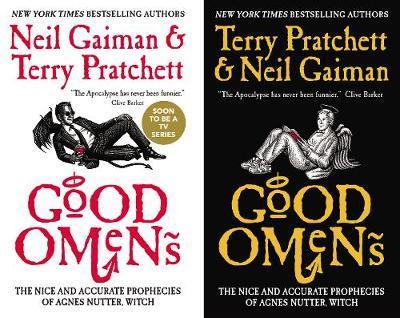 book cover: Good Omens by Pratchett and Gaiman