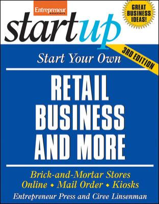 book cover: Start Your Own Retail Business and More by Ciree Linsenman
