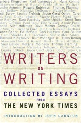 book cover: Writers on Writing