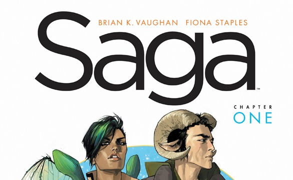 book cover: Saga, Volume 1 by Staples and Vaughan