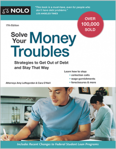 book cover: Solve Your Money Troubles by Loftsgordon and O'Neill