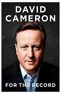 book cover: For the Record by David Cameron