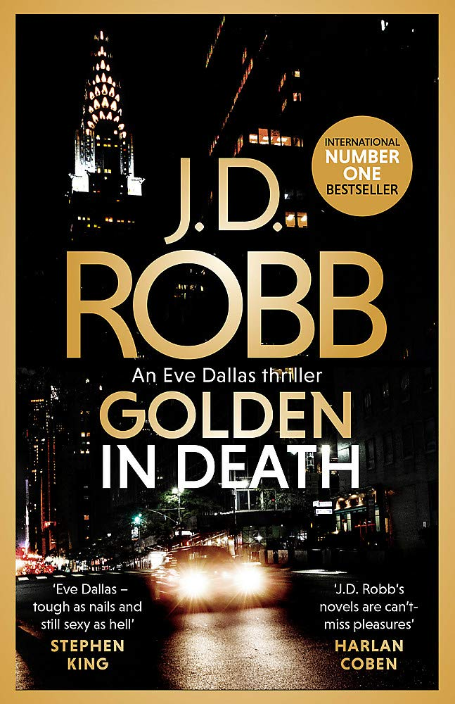 book cover; Golden in Death by JD Robb