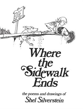 book cover: Where the Sidewalk Ends by Shel Silverstein