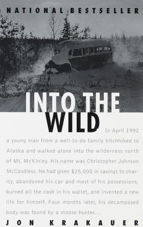 book cover: Into the Wild by Jon Krakauer