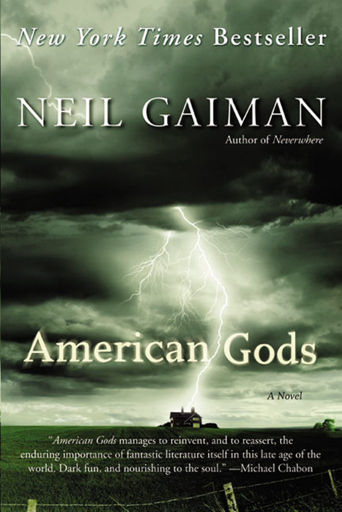 book cover: American Gods by Neil Gaiman