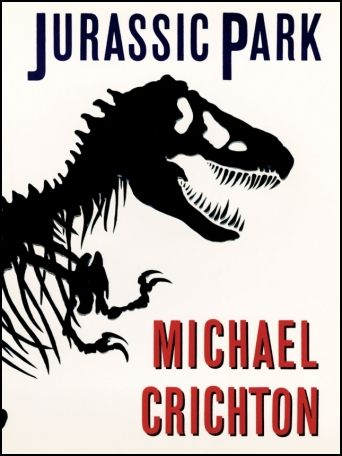 book cover: Jurassic Park by Michael Crichton