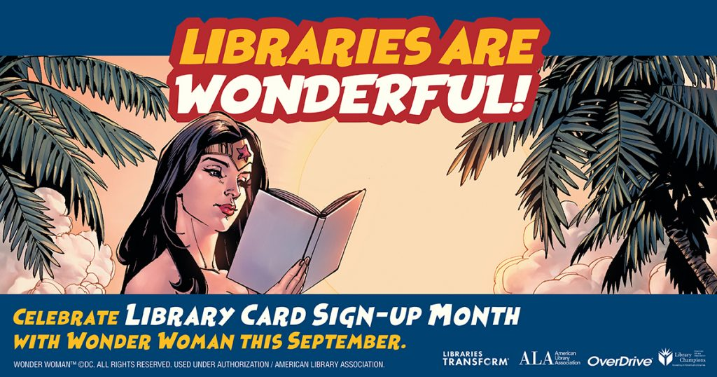 Library card wonder woman