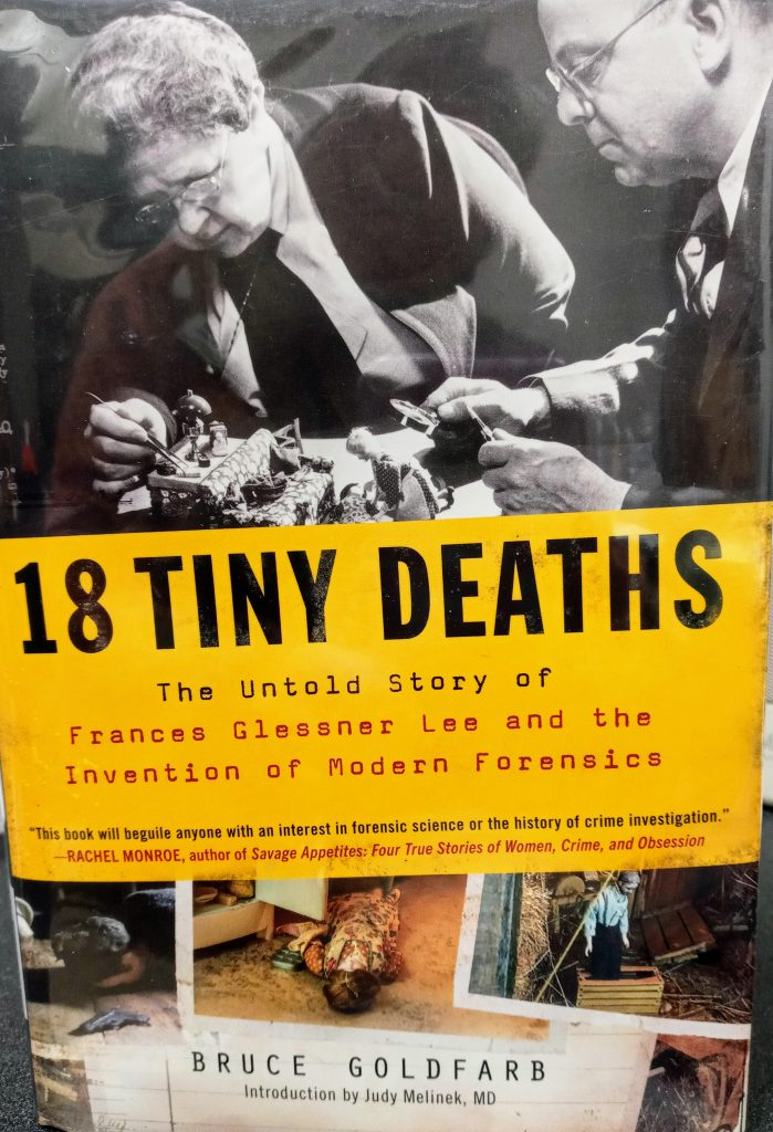 book cover: 18 Tiny Deaths by Bruce Goldfarb