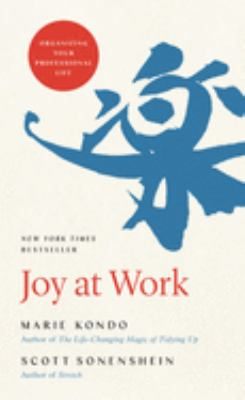 book cover: Joy at Work by Marie Kondo and Scott Sonenshein