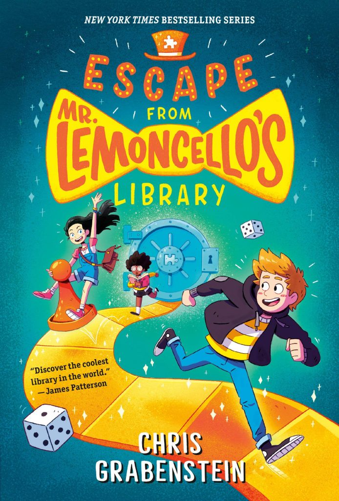 book cover: Escape From Mr. Lemoncello's Library by Chris Grabenstein