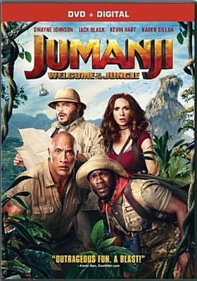 dvd cover: Jumanji: Welcome to the Jungle