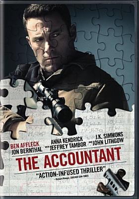 dvd cover: The Accountant (2016)